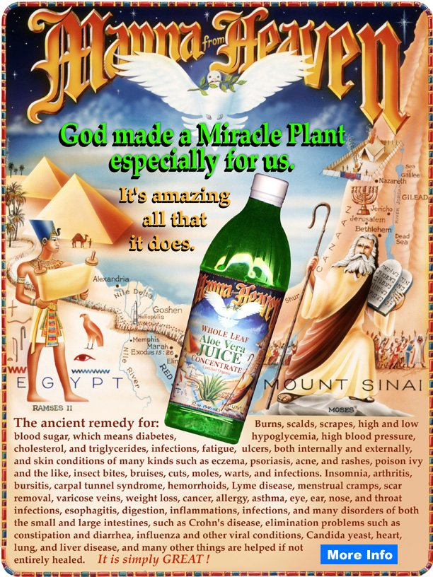 Manna From Heaven, Whole Leaf Aloe Vera Concentrate